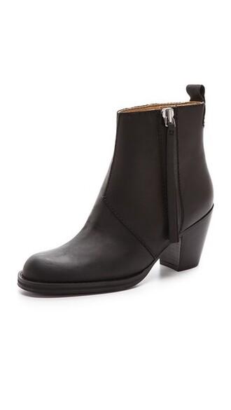 pistol booties black shoes