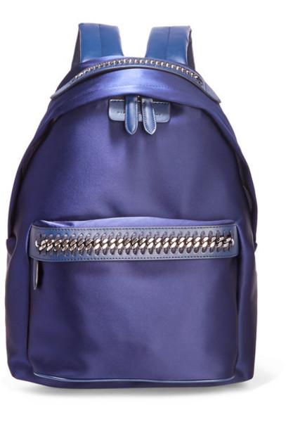 backpack leather satin bag