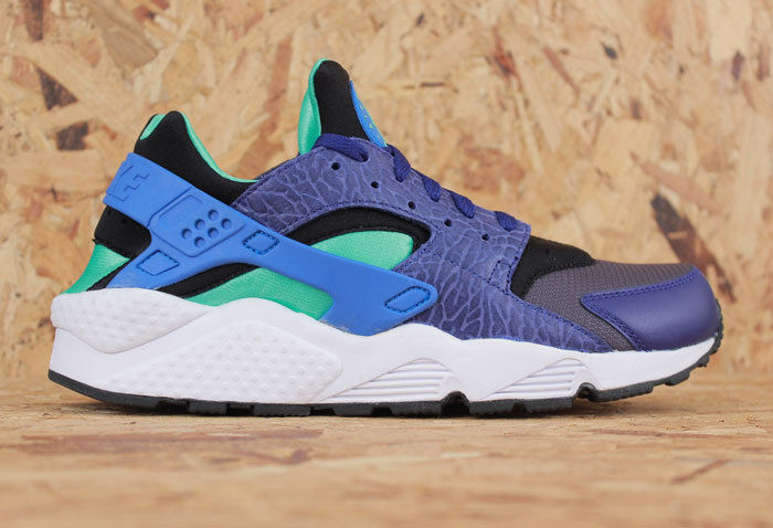 Nike Air Huarache Trainers OG Sneakers Size Green Blue Elephant Ship Worldwide