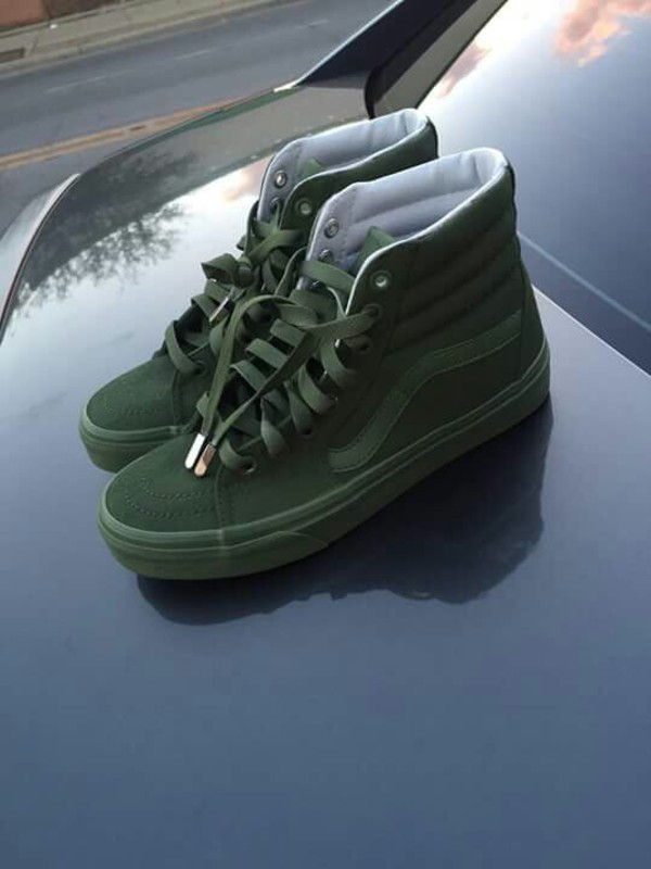vans sk8 hi reissue zip ivy green