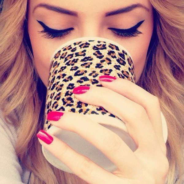 make-up mug leopard print