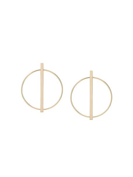 ESHVI women earrings hoop earrings gold grey metallic jewels