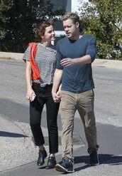 top,emma watson,streetstyle,pants,stripes,striped top