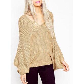 sweater boho oversized sweater beige knitwear rose wholesale