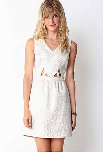 Cutting Edge Brocade Dress | FOREVER21 - 2031558274