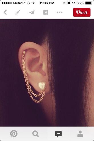 jewels heart earrings cartilage ear piercings piercing ears