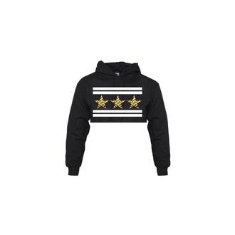 hoodie cropped stars cut offs cropped hoodie