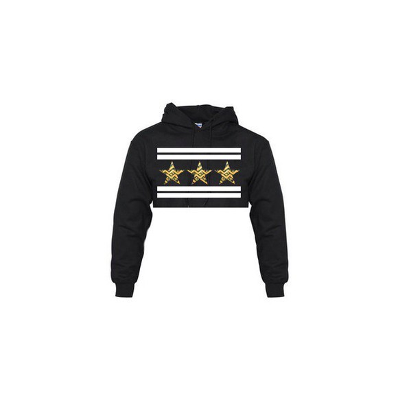 cropped hoodie stars cut offs