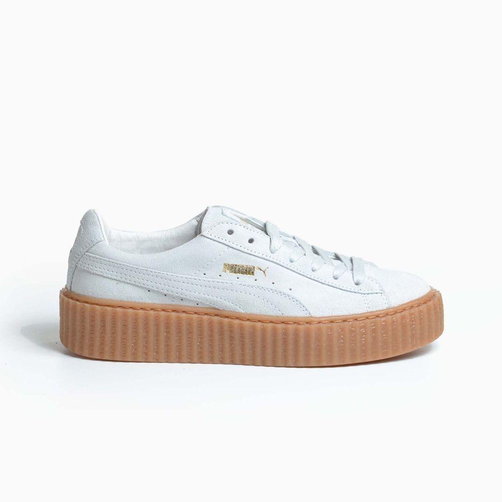 sports shoes 098eb 3166a PUMA by RIHANNA SUEDE CREEPERS STAR WHITE GUM 2016 OATMEAL THE FENTY  361005-06