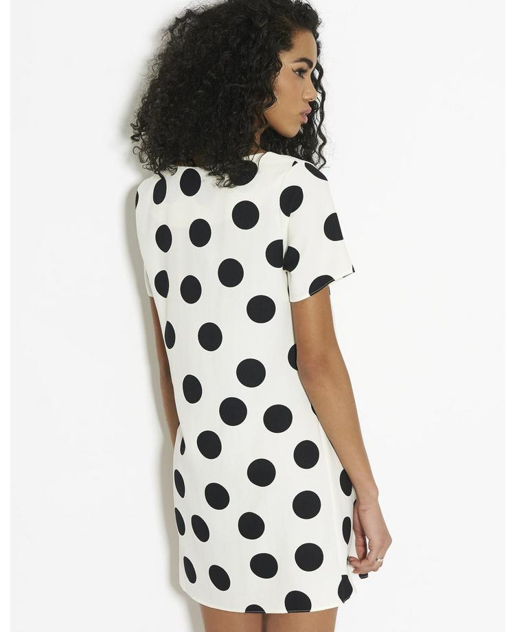 John Zack Polka Dot Shift Dress | BANK Fashion