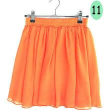 N08 High Waist Pleated Double Layer Chiffon Short Shirred Skirts Mini Pompon