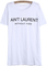 Letters print white t