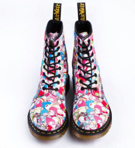 shoes DrMartens hello kitty