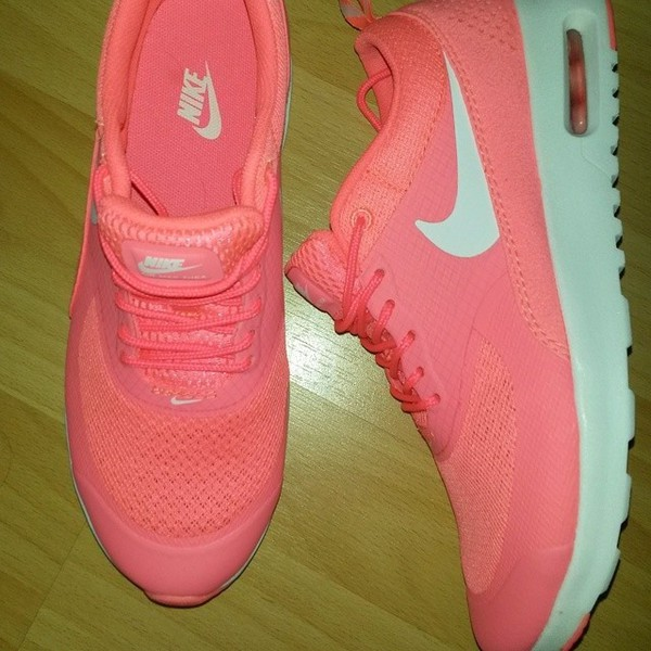 Womens Nike Air Max Thea Grey Hyper Punch Silver
