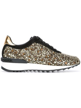 studded metal women sneakers leather suede black shoes
