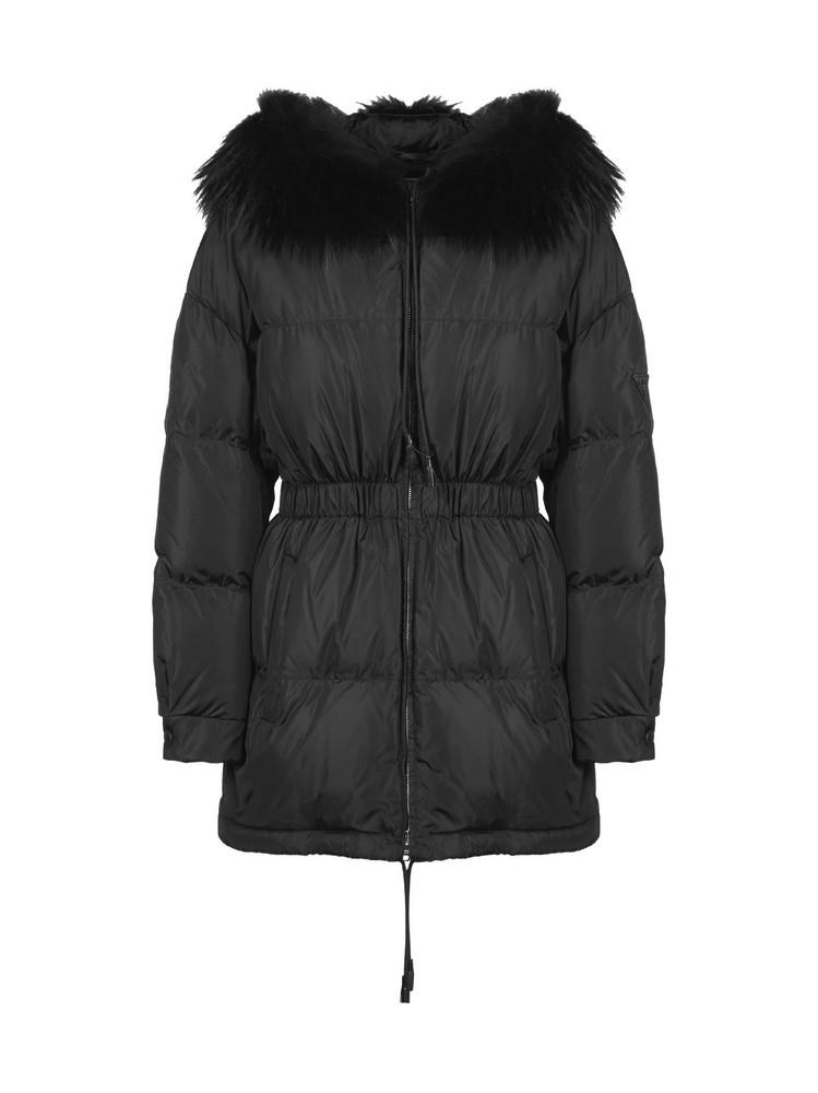 Prada Linea Rossa Puffer Jacket in nero