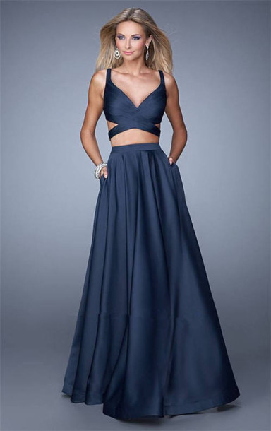 dress prom dress long prom dress two-piece
