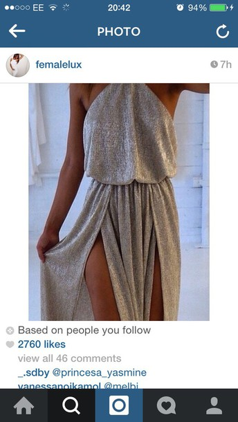 dress metallic sparkle evening dress