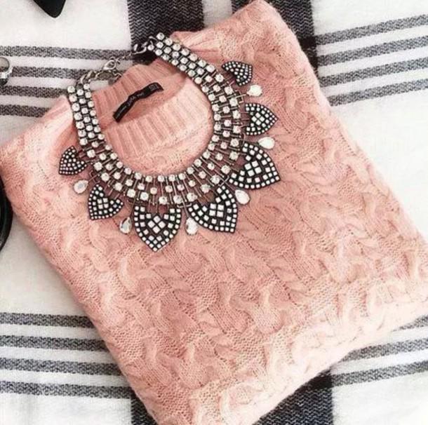jewels necklace jewelry jewelry necklace diamonds diamond necklace vintage sweater
