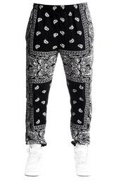 pants,bandana print joggers