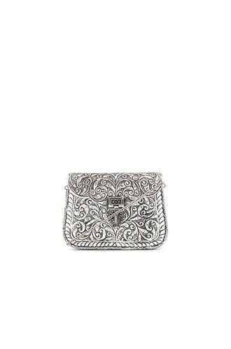 clutch metallic silver bag
