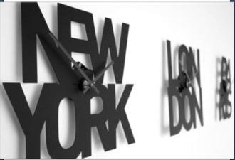 jewels clock new york city black