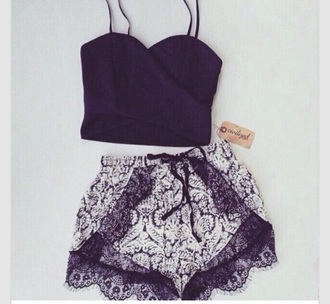 shorts black and white high waisted shorts lace