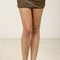 Double zipper suede mini skirt