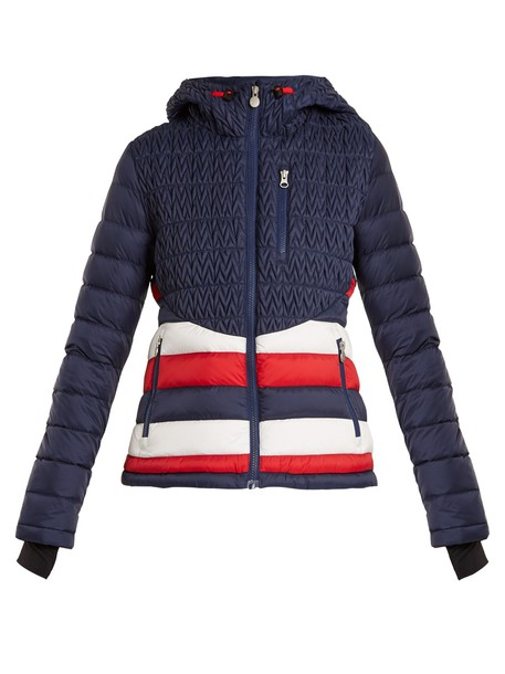 Perfect Moment jacket quilted chevron navy