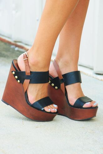 shoes heels clogs mules wedges brown black studs