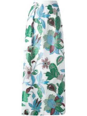 skirt maxi skirt maxi jacquard white