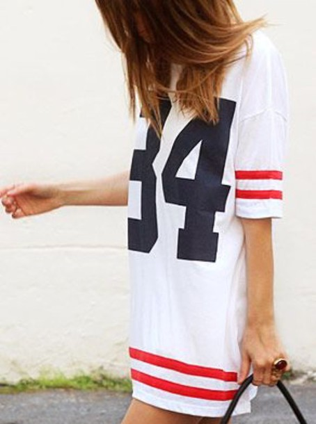 dress casual casual dress t-shirt dress red navy white t-shirt