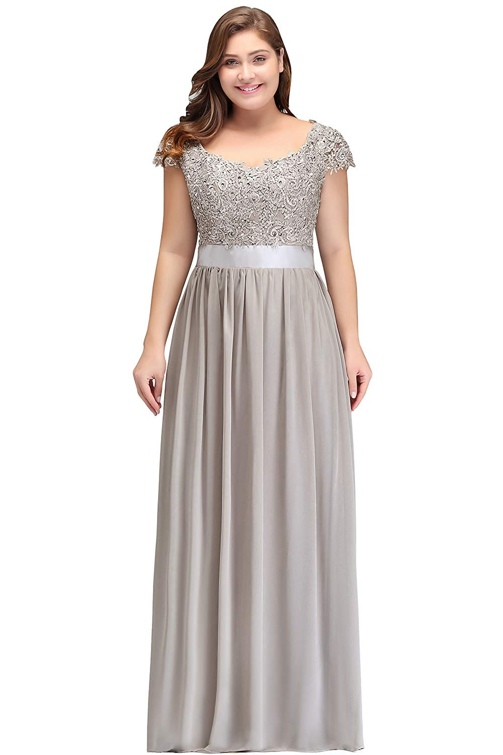 MisShow Women's Lace Chiffon Bridesmaid Dress A Line Long Prom Evening Gowns at Amazon Women's Clothing store: