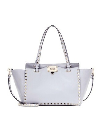 bag crossbody bag leather grey