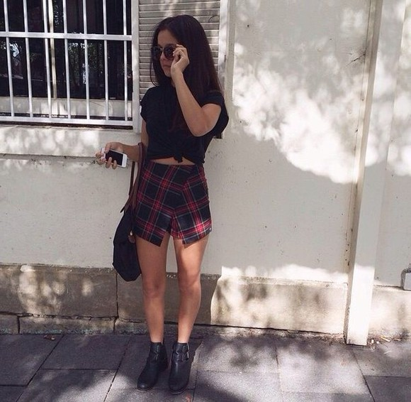 skirt tartan tartan skirt clothes