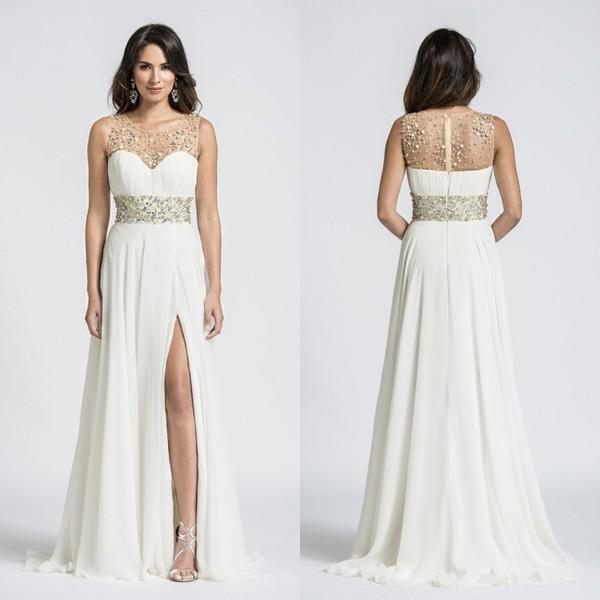 Plus Size Formal Wear Long Chiffon Bridesmaid Dresses Short White ...
