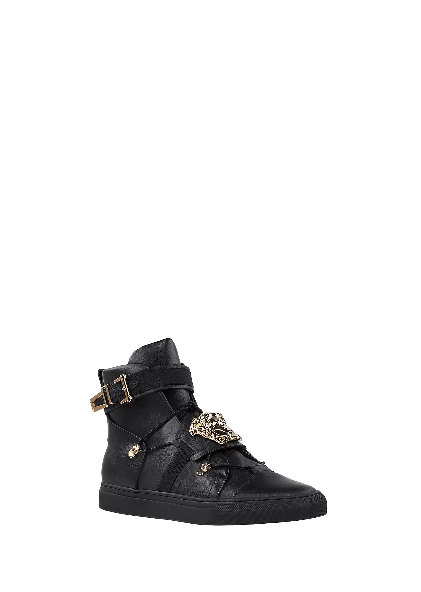 Versace - Medusa Hi-Top Leather Sneakers