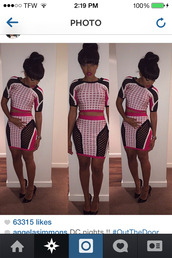 Angela Simmons,pink,two-piece
