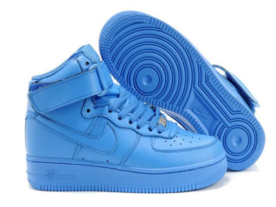 Womens Nike Air Force 1 High All Light Blue - $63.90USD