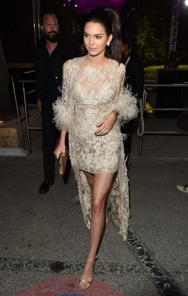 lace dress sandals kendall jenner kardashians prom dress gown mini dress cannes shoes see through see through dress sequins sequin dress keeping up with the kardashians model off-duty