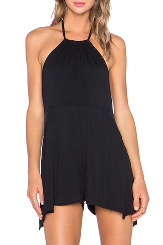 dress black dress black halter top halter dress sleeveless dress backless backless dress chiffon casual casually outfit summer dress dope all black everything streetwear zaful