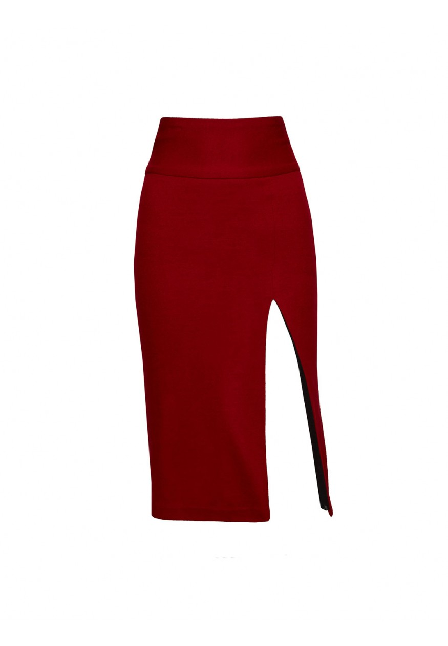 alice   olivia | TANI LONG PENCIL SKIRT WITH SLIT