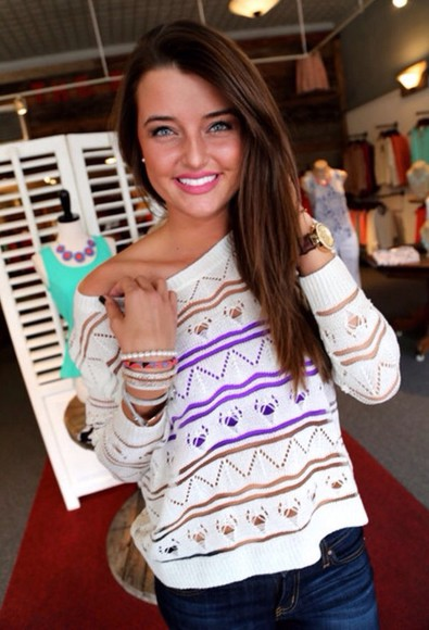 sweater off the shoulder sweater knit sweater oversized sweater white holey sweater
