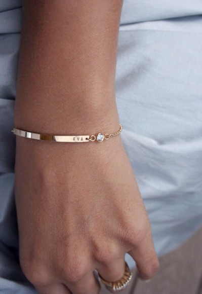 jewels gold chain bracelet diamond name engraved customized bracelets gold