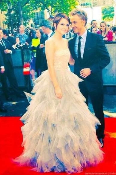 dress long dress prom long prom dress formal red carpet emma watson celebrity dresses