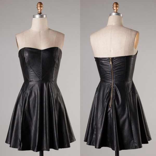 Midnight leatherette dress