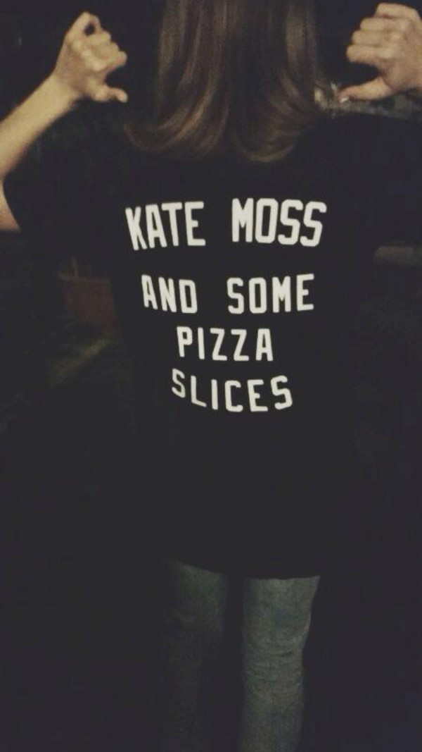 t-shirt kate moss pizza