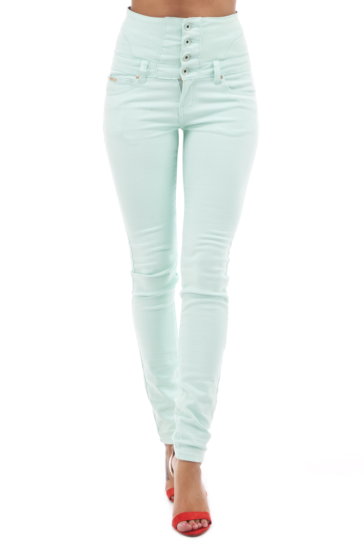 high, waisted, jeans, mint
