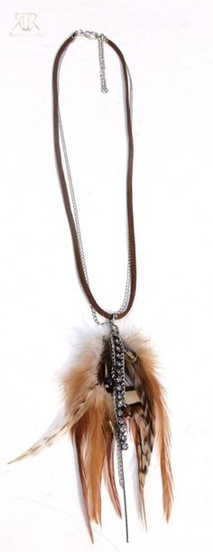 jewels feather necklace