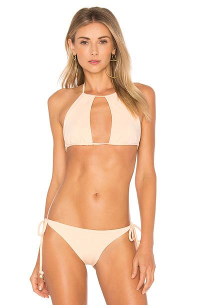 F E L L A bikini bikini top peach swimwear